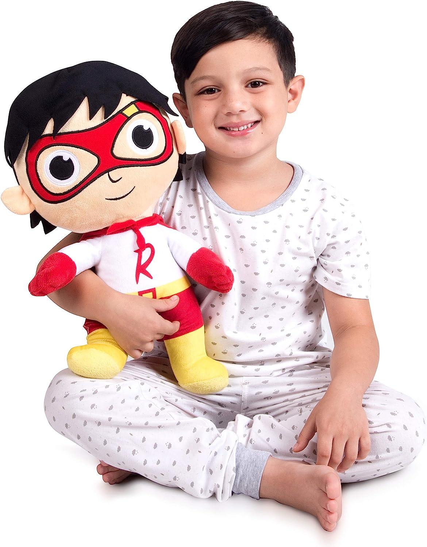 Franco Kids Bedding Super Soft Plush Snuggle Cuddle Pillow, One Size, Ryan's World Red Titan