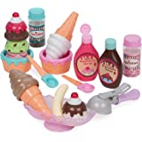 Play Circle by Battat – Sweet Treats Ice Cream Parlour Playset – Sprinkles, Cones, Spoons, Cups - Pretend Play Food…