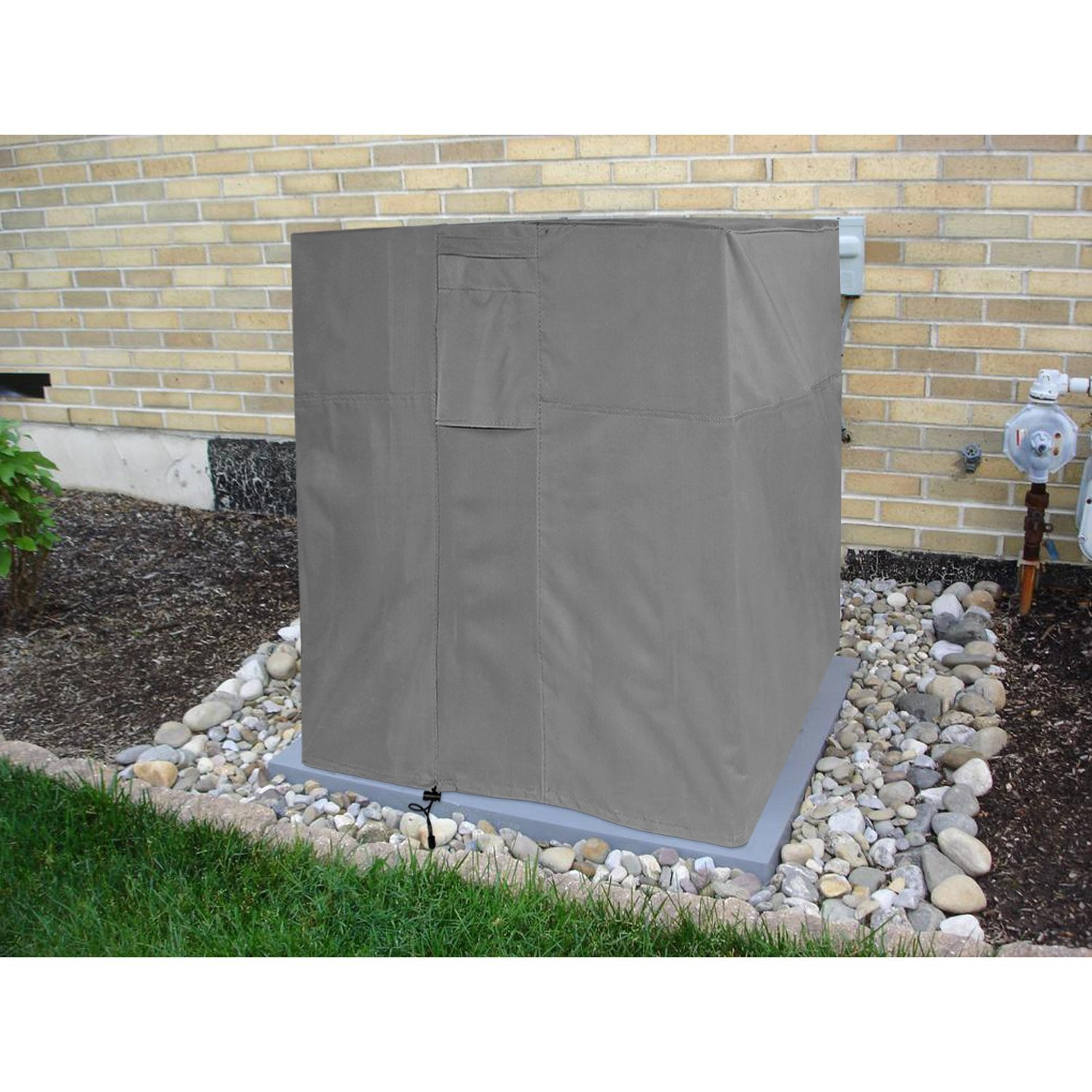 KHOMO GEAR - TITAN Series - Waterproof Heavy Duty Outdoor Air Conditioning Cover AC Protector - Grey
