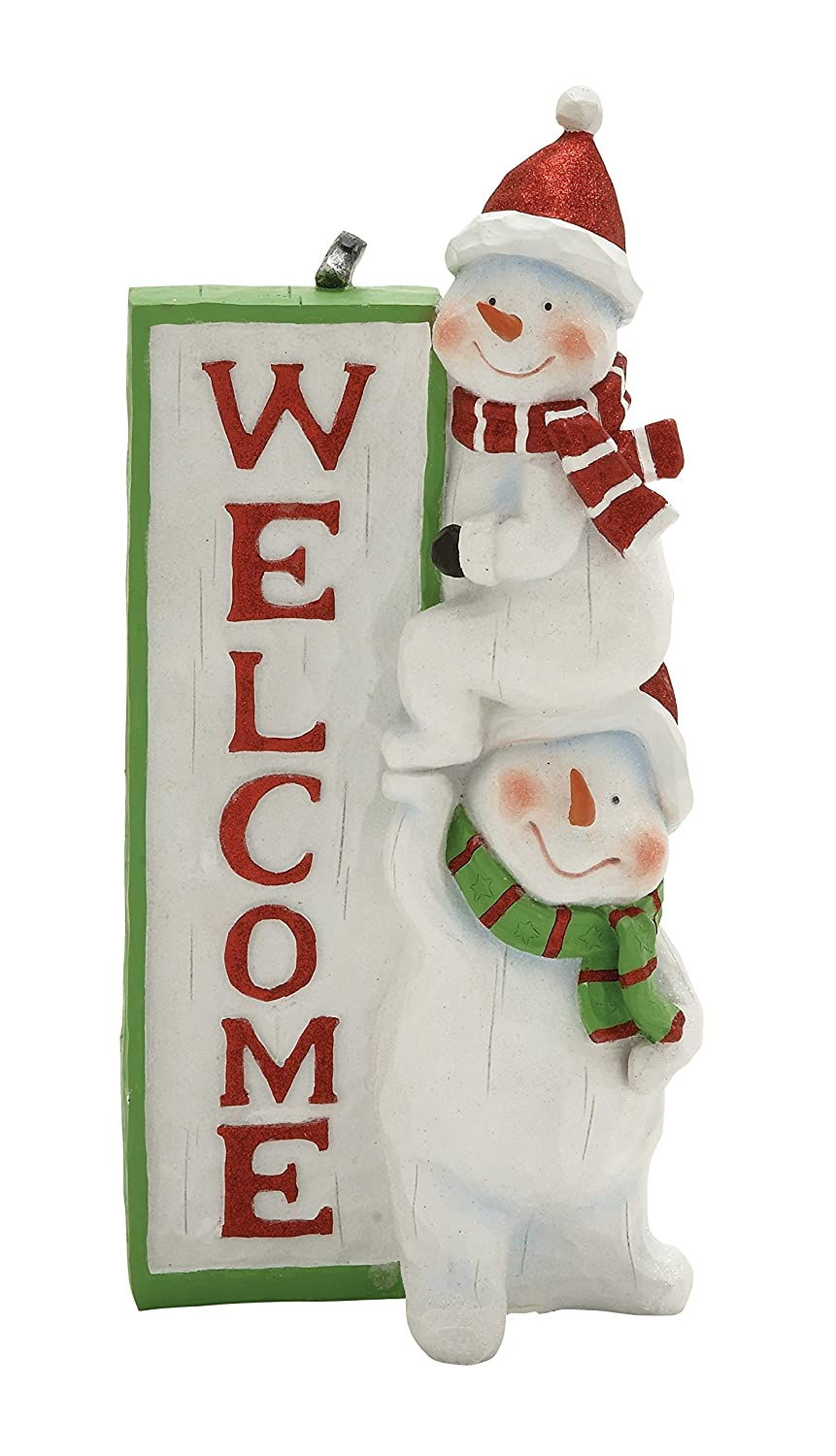 Plutus Brands Scintillating Snowman Welcome Sign