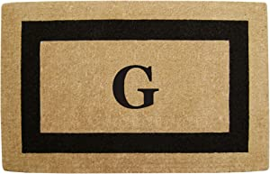 "Heavy Duty 22"" x 36"" Coco Mat Black Single Picture Frame, Monogrammed G"