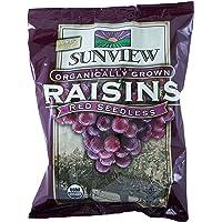 Sunview Organic raisins snack pack, red, 14x0.5oz