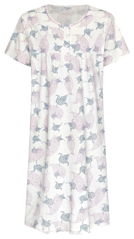 72e49e1053 Damen Nachthemd Kerstin Off White Gr. M 40-42: Amazon.de: Bekleidung