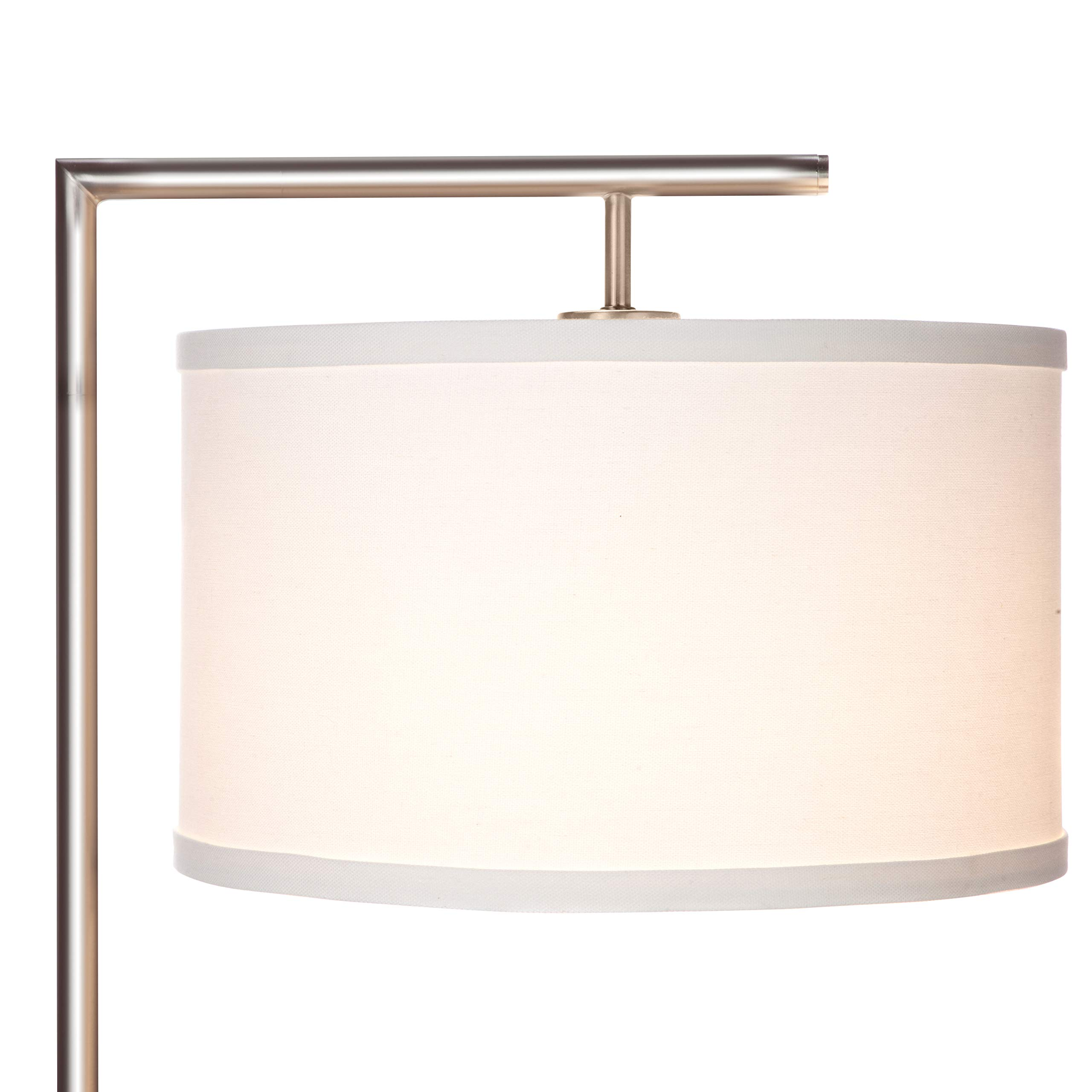 Brightech Montage Modern - LED Floor Lamp for Living Room- Standing Accent Light for Bedrooms, Office - Tall Pole Lamp with Hanging Drum Shade - Satin Nickel by Brightech (Image #2)
