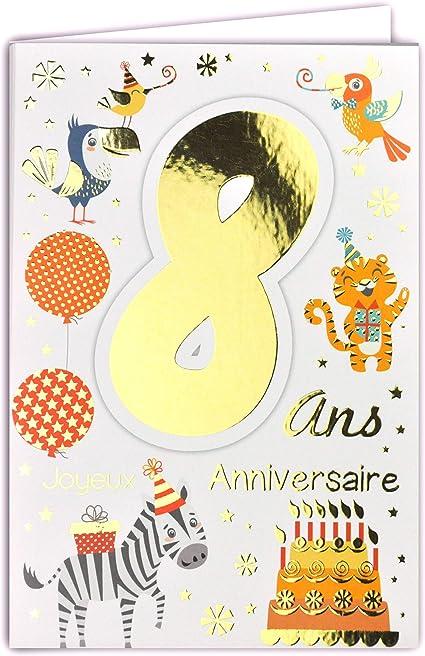 carte anniversaire fille 8 ans Amazon.com: 69 2008 Happy Birthday Card for Children Boy Girl