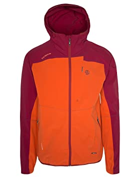 Ternua ® Valman Chaqueta, Hombre, Orange Red/Arctic Dark, 2XL