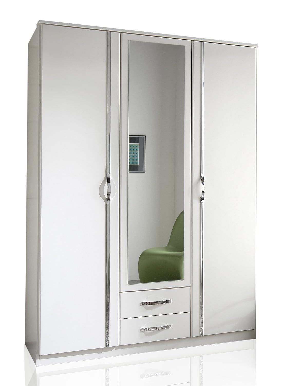 Wimex 78484 Kleiderschrank  Drehtürenschrank Duo, 3 Türen, 2 Schubladen, (B H T) 135 x 198 x 58 cm, Weiß