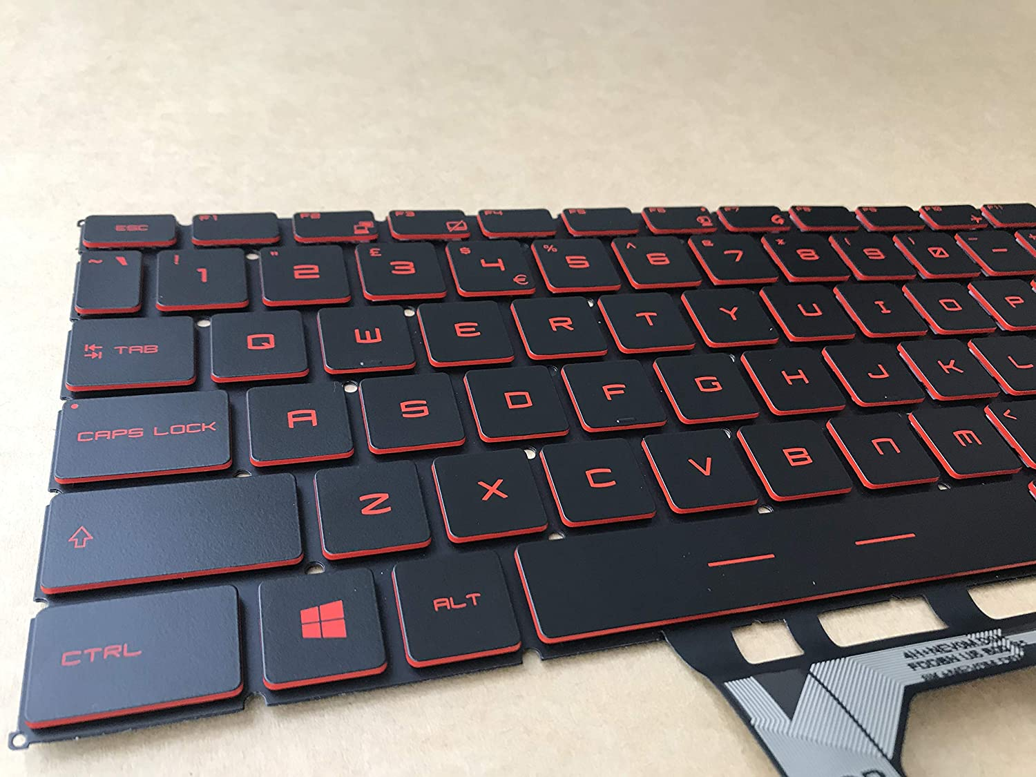 Original New for MSI PS63 MS-16S1 PS63 Modern 8RD 8SC 8M 8RC Laptop Keyboard US Red with Backlit
