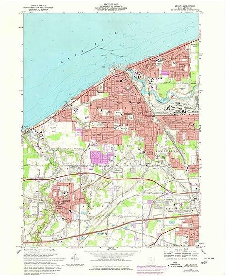 Amazon Com Yellowmaps Lorain Oh Topo Map 1 24000 Scale 7 5 X 7 5