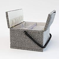 Creations Hamilton naaimand, visgraatpatroon, 2 deksels, grijs, één maat