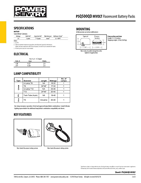 amazon com lithonia lighting psq500qd mvolt m12 power sentry 500 rh amazon com