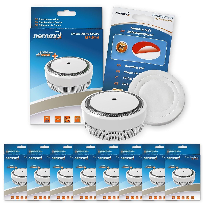 Nemaxx M1NX - Mini detector de humo - sensibles, color blanco: Amazon.es: Bricolaje y herramientas
