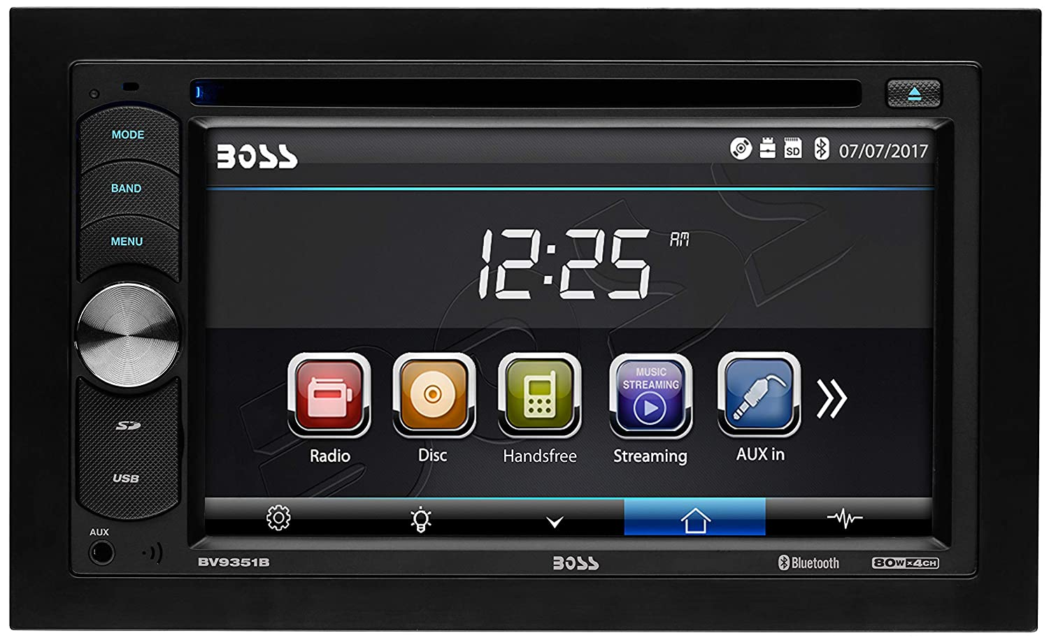 BOSS Audio BV9351B Double Din, Touchscreen, Bluetooth, DVD/CD/MP3/USB/SD AM/FM Car Stereo, 6.2 Inch Digital LCD Monitor, Wireless Remote