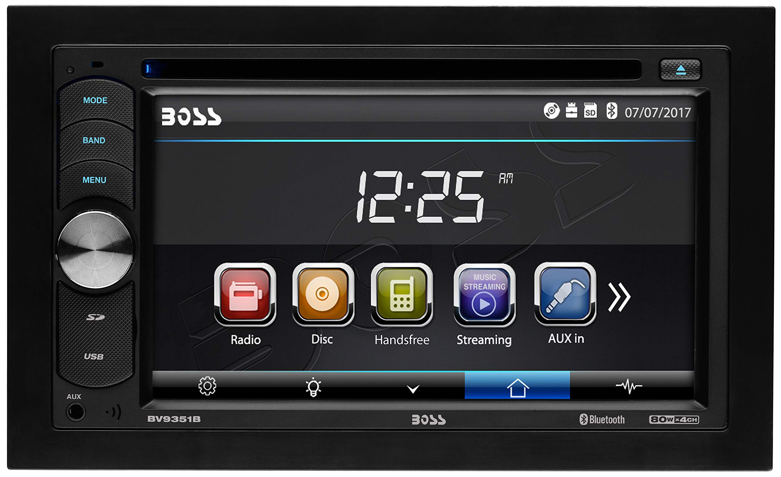 BOSS Audio BV9351B Double Din, Touchscreen, Bluetooth, DVD/CD/MP3/USB/SD AM/FM Car Stereo, 6.2 Inch Digital LCD Monitor, Wireless Remote