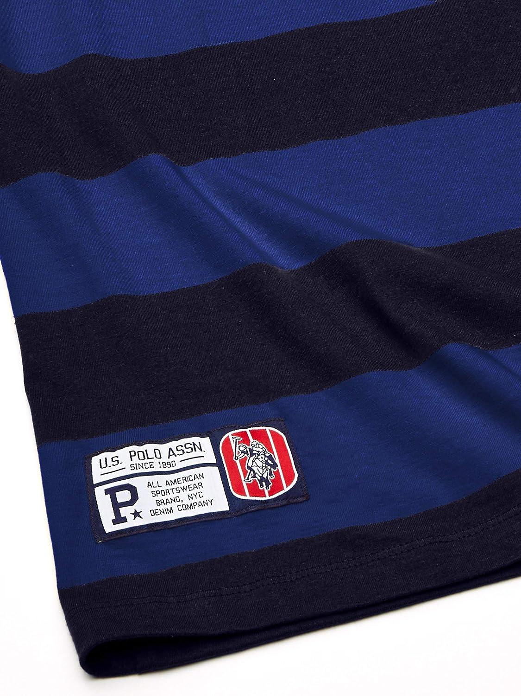 U.S Mens Short Sleeve Crew Neck Striped T-Shirt Polo Assn