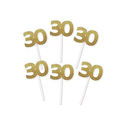 Decoración para cupcakes de 30 cumpleaños.: Amazon.com ...