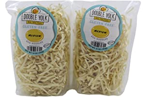 Double Yolk Gluten Free Medium Egg Noodles,10 Ounce Bag (Pack of 2)