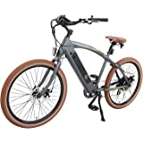 """Onway 26"""" 7-Speed Electric Motorized Bicycle, 500w Powerful Bike Rear Motor, Hidden Lithium Battery, LED bike Light, Fat Light, Ebikes For Adults"""