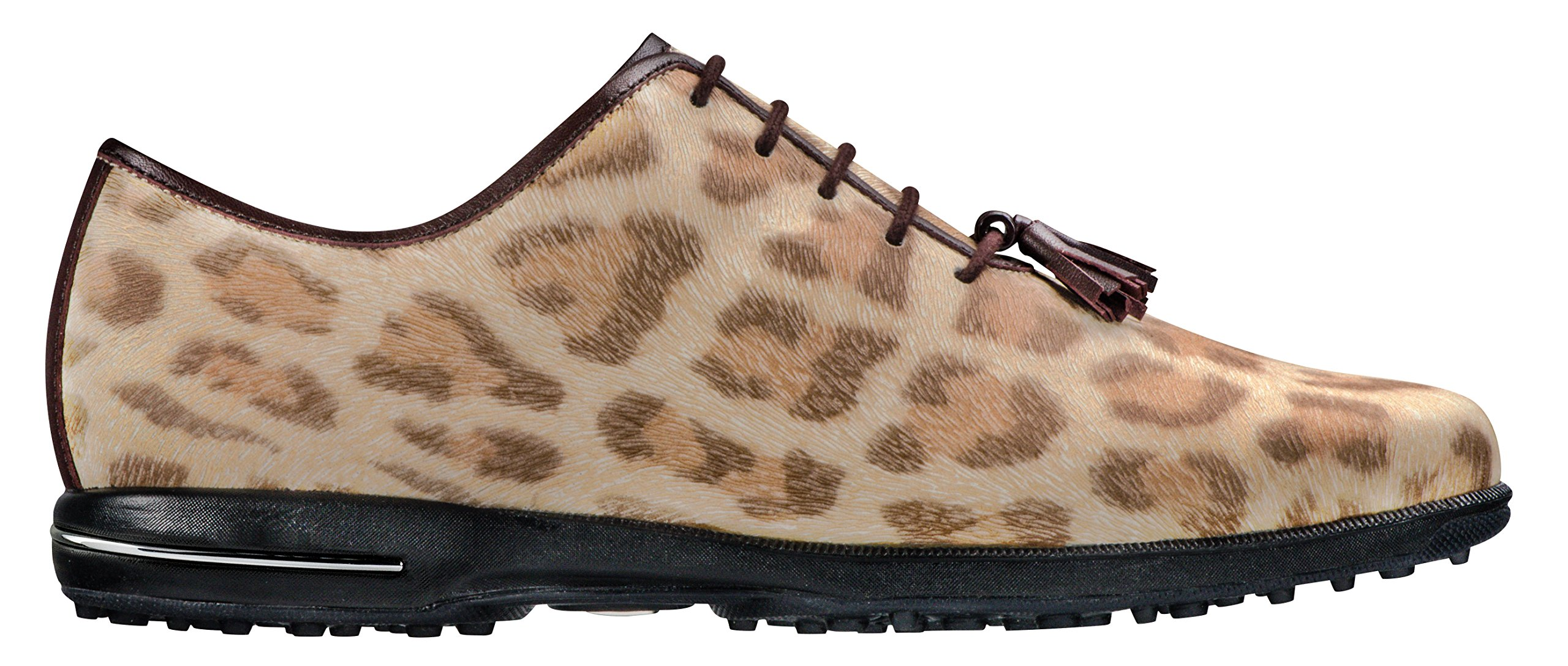 FootJoy Women's Tailored Collection Spikeless Golf Shoes, Close-Out (7 B(M) US, Cheetah/Dark Brown 91653)