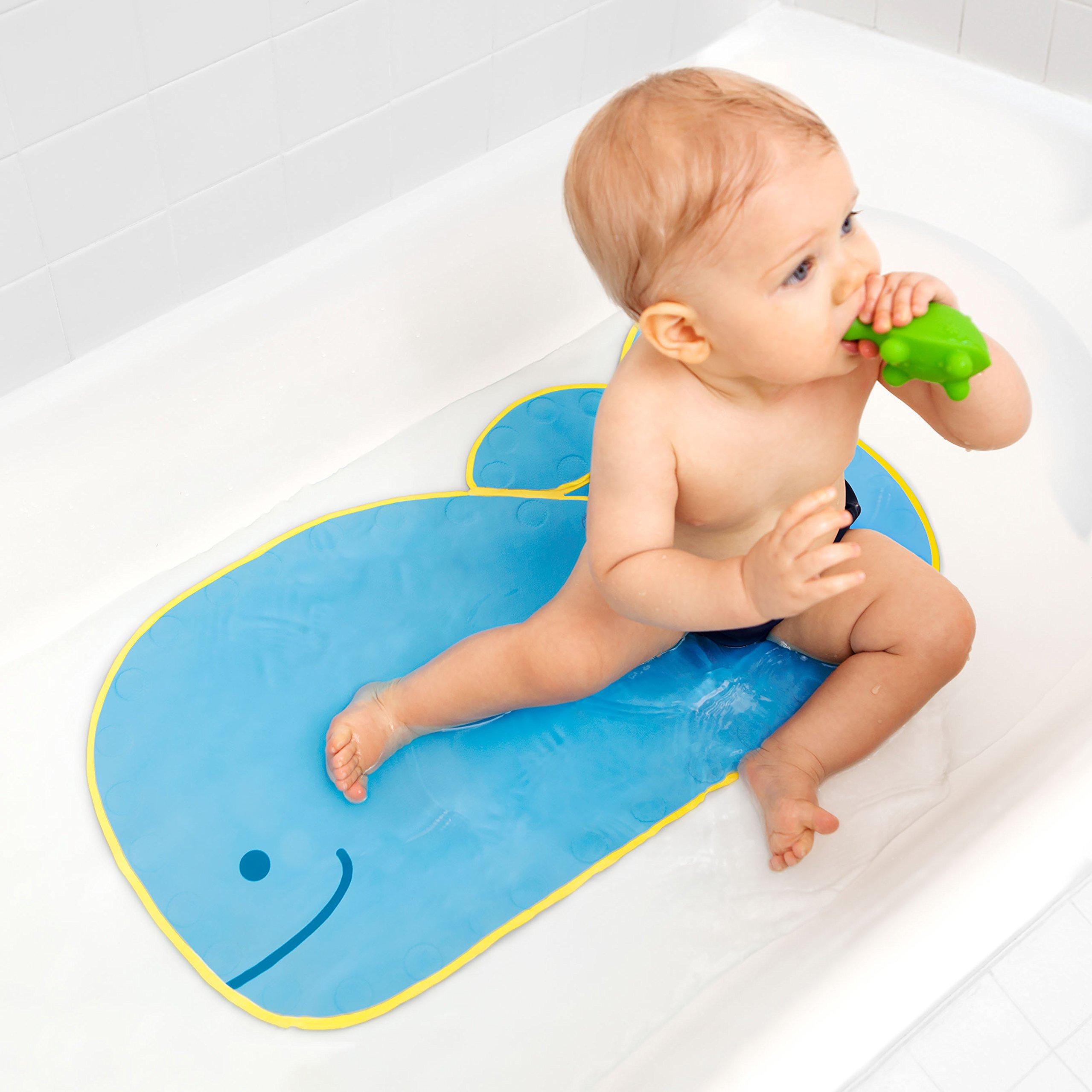 Skip Hop Moby Baby Bath Set, Four Bathtime Essentials - Spout Cover, Bath Kneeler, Elbow Pad, And Bath Mat, Blue by Skip Hop (Image #8)