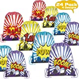POKONBOY 24 Pack Kids Party Favors Drawstring Bags for Boys Party Supplies - Reusable Party Bags for Boys Girls Kids Birthday