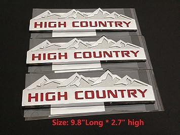 1x OEM Chevy 1500 2500 3500 Chrome 3D SILVERADO Door Tailgate Emblem Nameplates