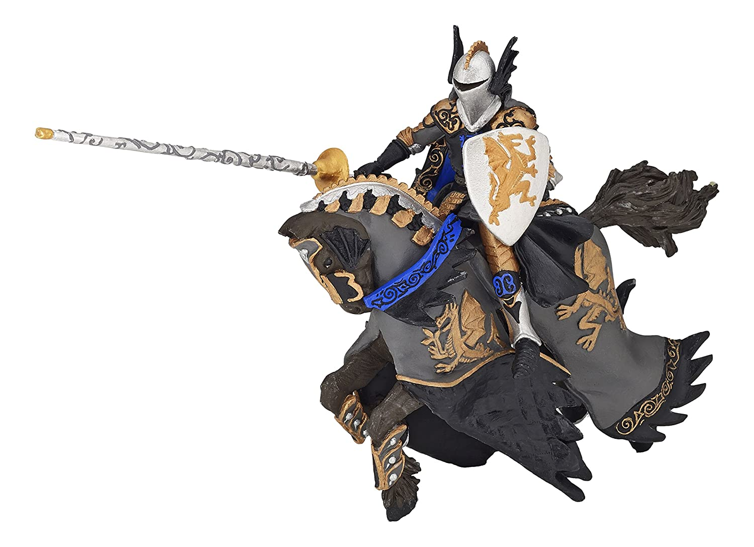 Papo Dragon Black Prince and Horse Toy Figure