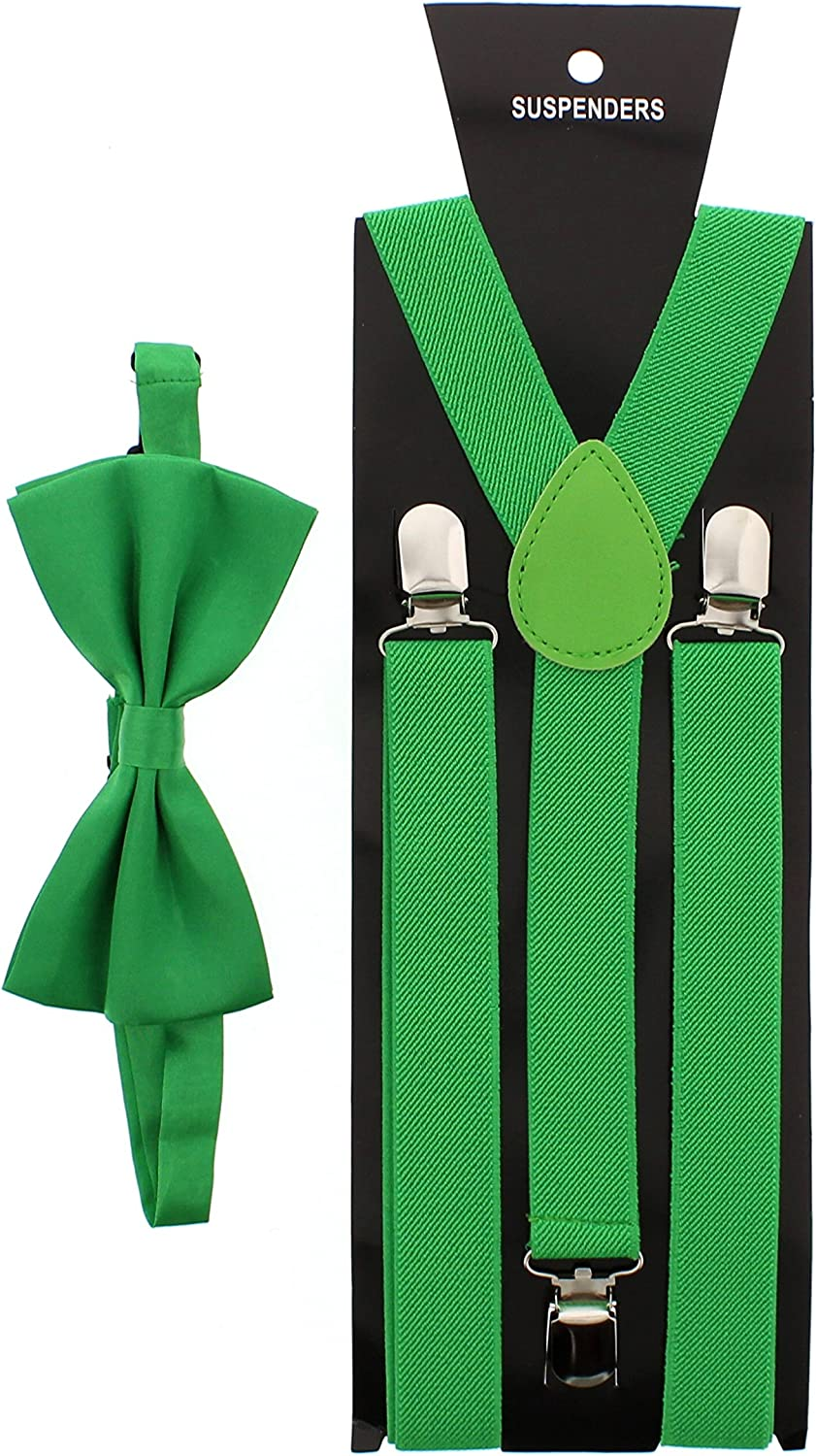 Zacs Alter Ego/® Mens Matching Suspenders /& Pre-Tied Bow Tie Combo Sets