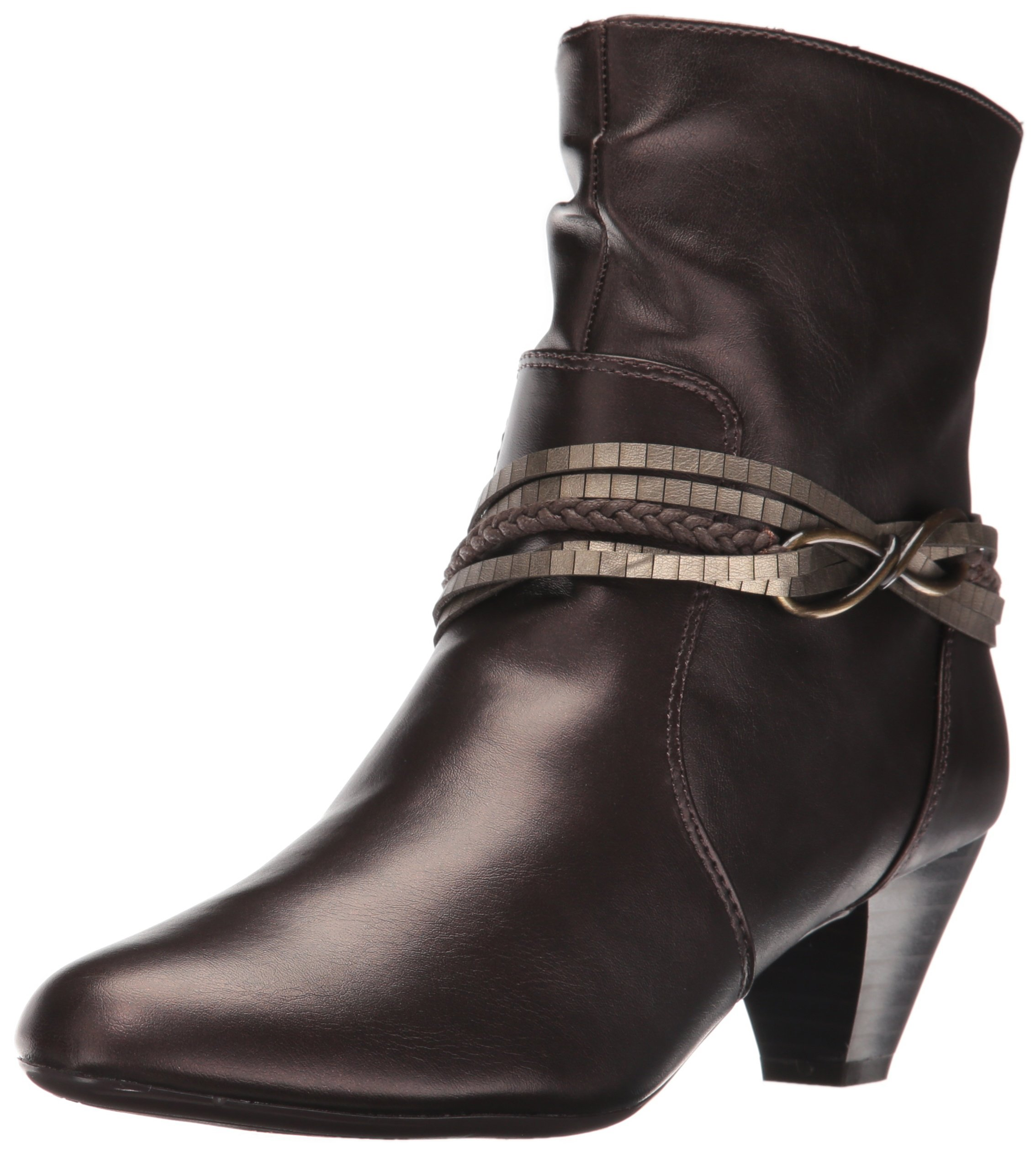 Soft Style Hush Puppies Women's Gayla Boot, Gunmetal Vitello, 6 M US