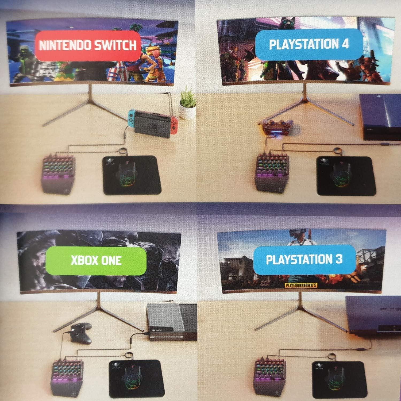 SOG - Pack de Teclado XPERT-G700 mecánico 1 Mano + ratón para Consola PS4/PS3/XBOX One/Switch: Amazon.es: Electrónica
