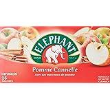 Elephant Infusion Pomme Cannelle 25 Sachets 55g - Lot de 4