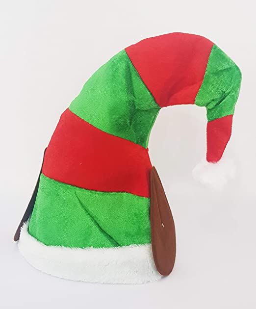 takestop® Gorro Navidad Elfo con Orejas Tiras Rojo, Verde Gorra ...
