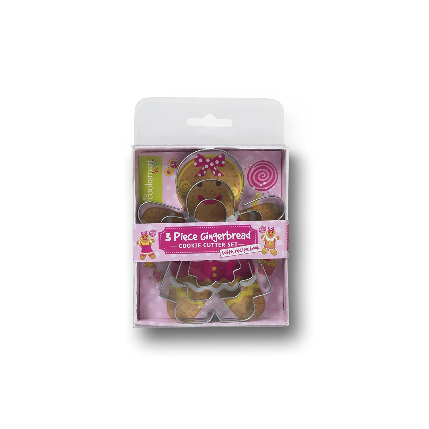 Cooksmart Kids 3-Piece Cookie Cutter Set Gingerbread Girl 8762