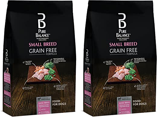 Pure Balance Grain Free Small Breed Chicken & Garden Vegetables, 4lb