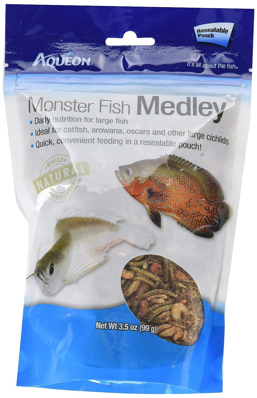 Aqueon Monster Fish Medley Food, 3.5 Ounces Each