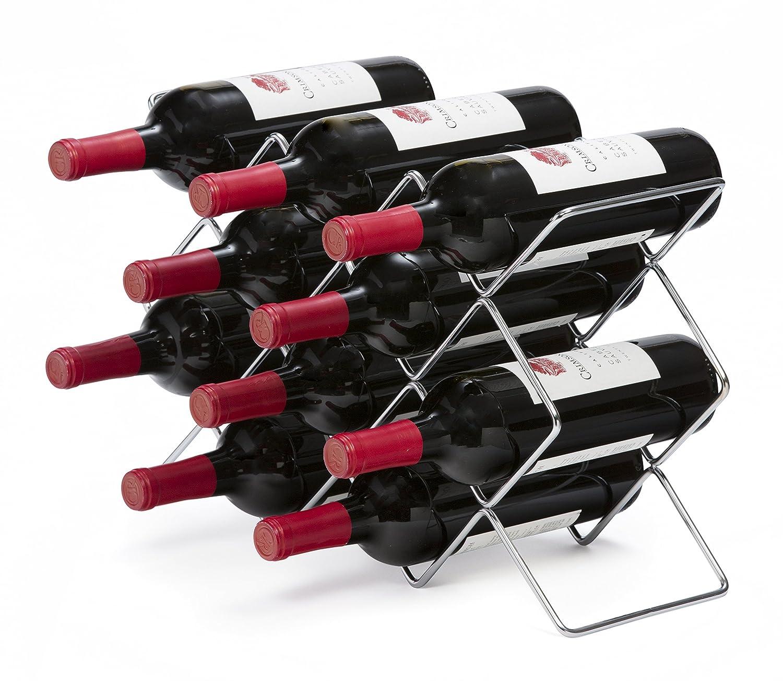 Mango Steam 10 Bottle Wine Rack (Black)
