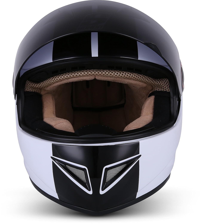 55-56cm SOXON ST-666 Shiny Night /· Helmet Casque Integral Urban Moto-Casque Scooter Sport Fullface Moto Cruiser /· ECE certifi/és /· y compris le pare-soleil /· y compris le sac de casque /· Noir /· S