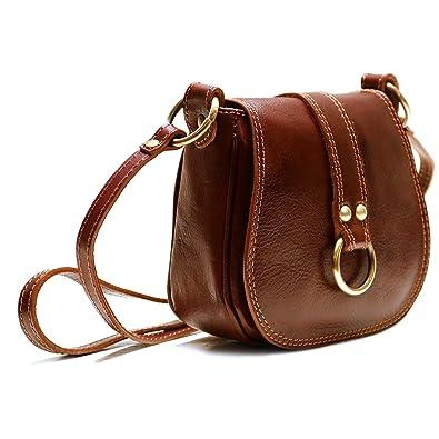 e649fc1f1dab Image Unavailable. Image not available for. Color  Floto Women s Saddle Bag  in Brown Italian Calfskin Leather - handbag shoulder bag