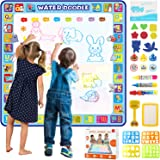 Tobeape® 100 X 100 cm Extra Large Aqua Magic Doodle Mat, Colorful Educational Water Drawing Doodling Mat Coloring Mat…