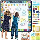 بساط رسم مائي كبير جدًا 100 × 100 سم، بساط تلوين مائي تعليمي ملون للأطفال والأطفال الصغار والأولاد والبنات بعمر 2 3 و4…