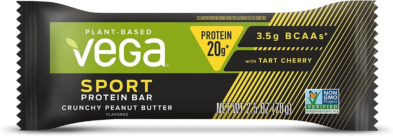 Vega Sport n Protein Bar, Crunchy, Peanut Butter 2.5 Ounce
