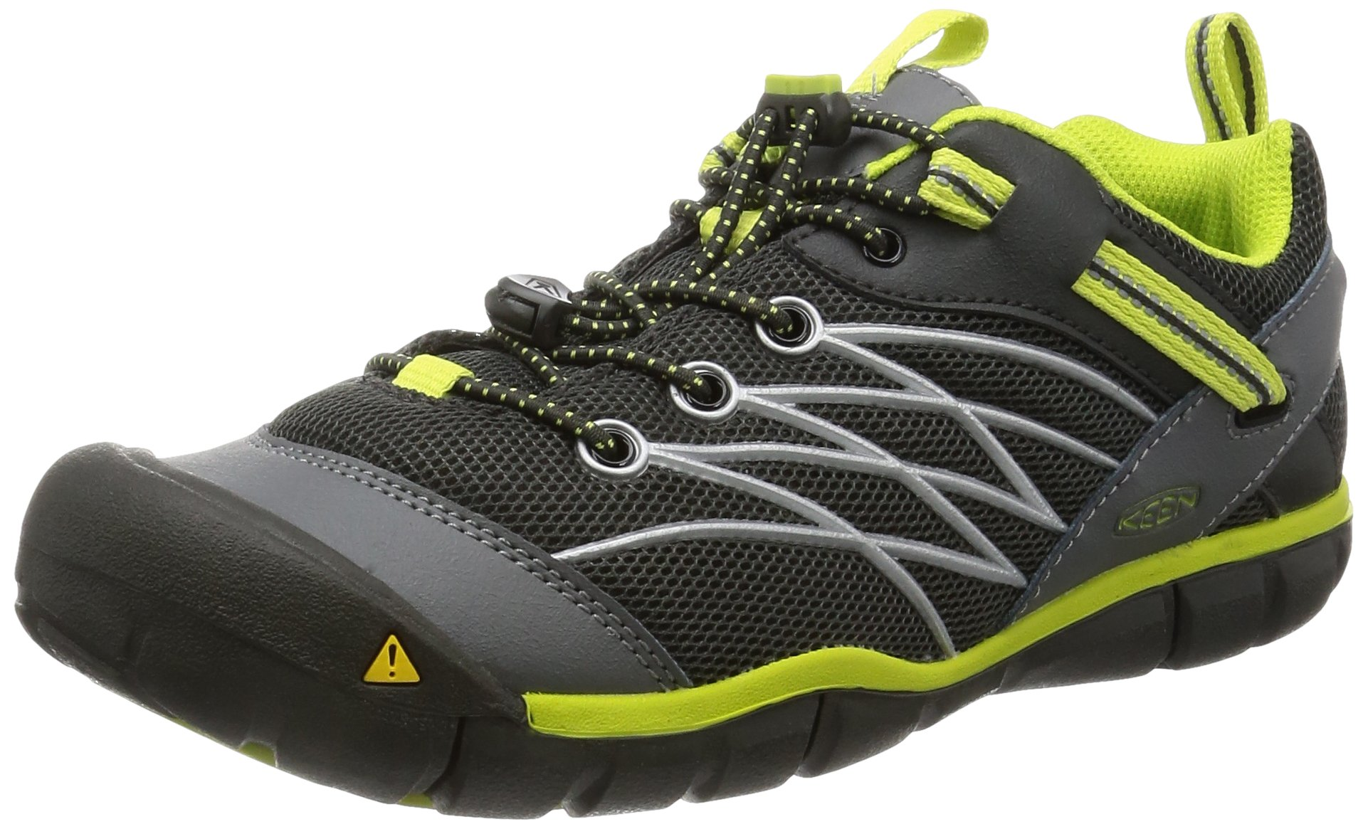 KEEN Chandler CNX Shoe (Toddler/Little Kid/Big Kid),Raven/Bright Chartreuse,8 M US Toddler