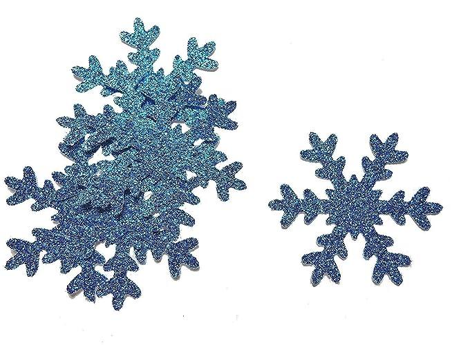 Konfetti Schneeflocke Blau Glitter Tischdeko Weihnachten Party