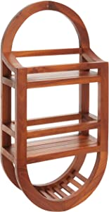 Bare Decor BARE-AX4508 Teak Shower Caddie Storage Organizer, 24""