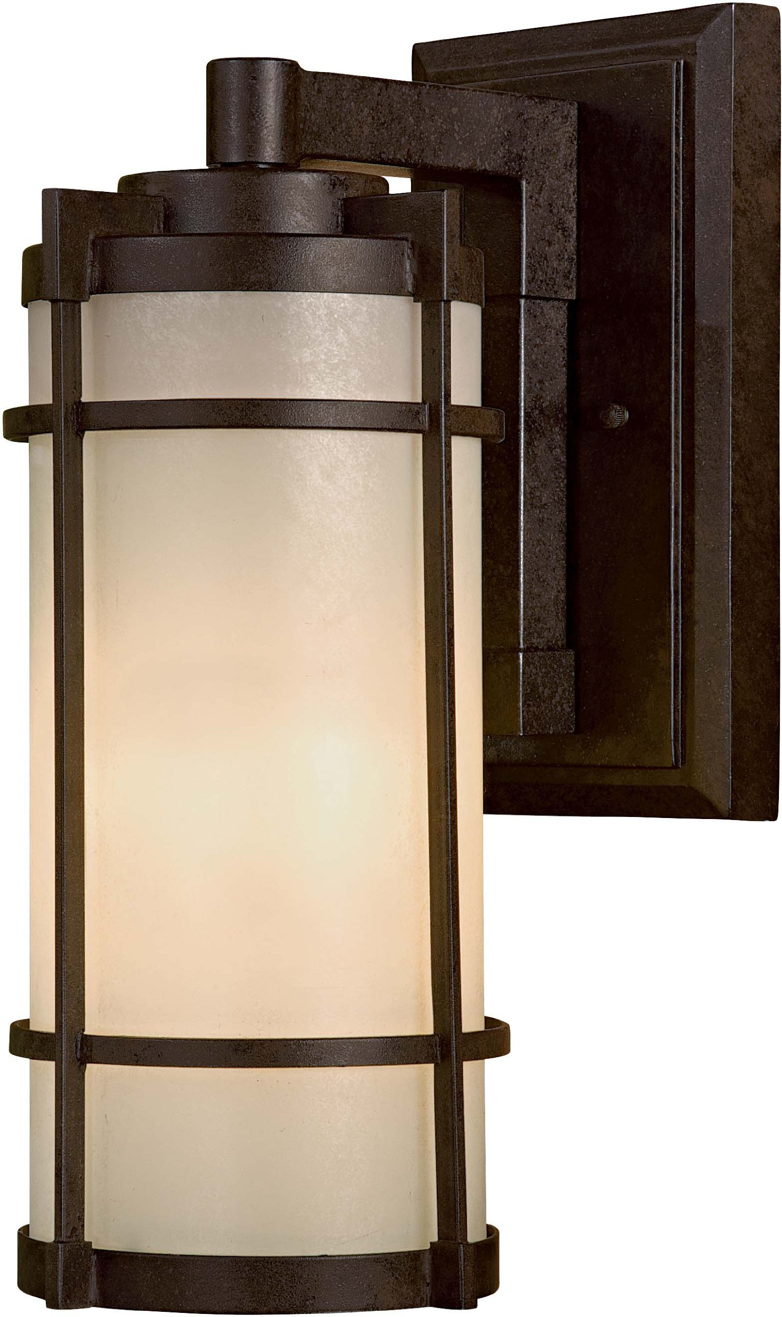 Minka Lavery 72023-A179-PL Andrita Court 1 Light Outdoor Wall Mount, 7'', Textured French Bronze Finish by Minka Lavery