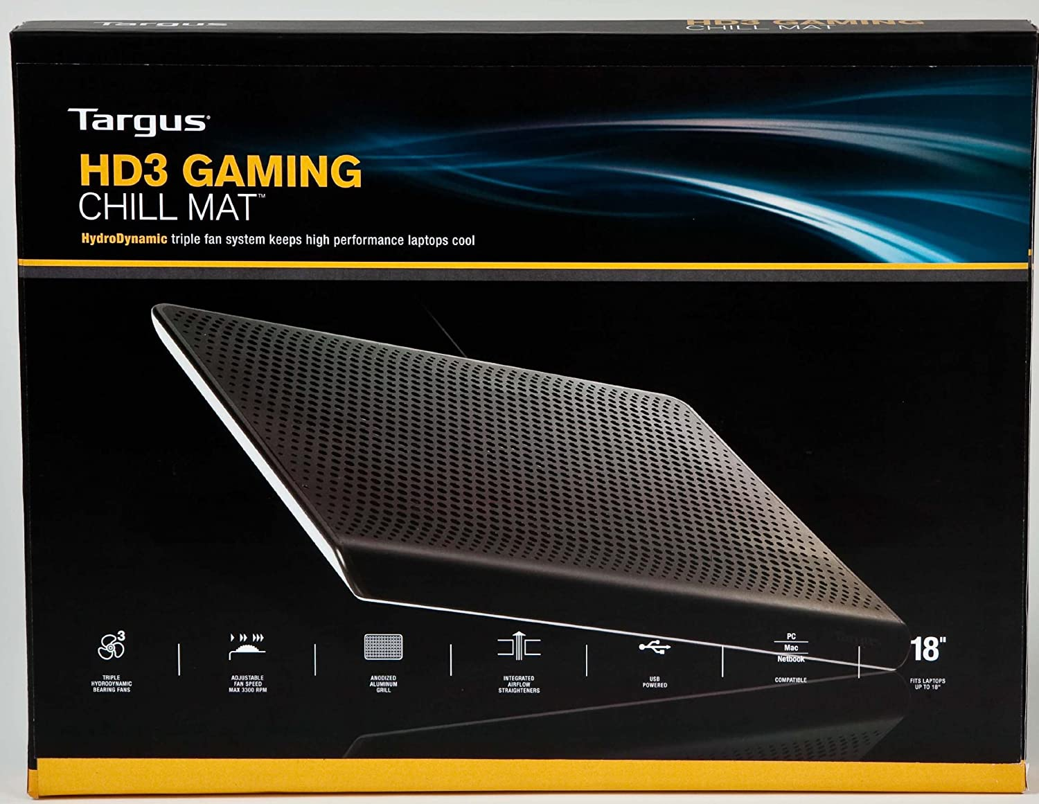 Targus HD3 Gaming Chill Mat for up to 18-Inch Laptop Black AWE57US