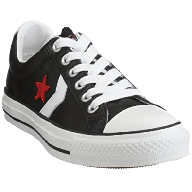 808e78b8e95b Converse Star Player Star Player Leather Ox Black White Red 105869 4 UK