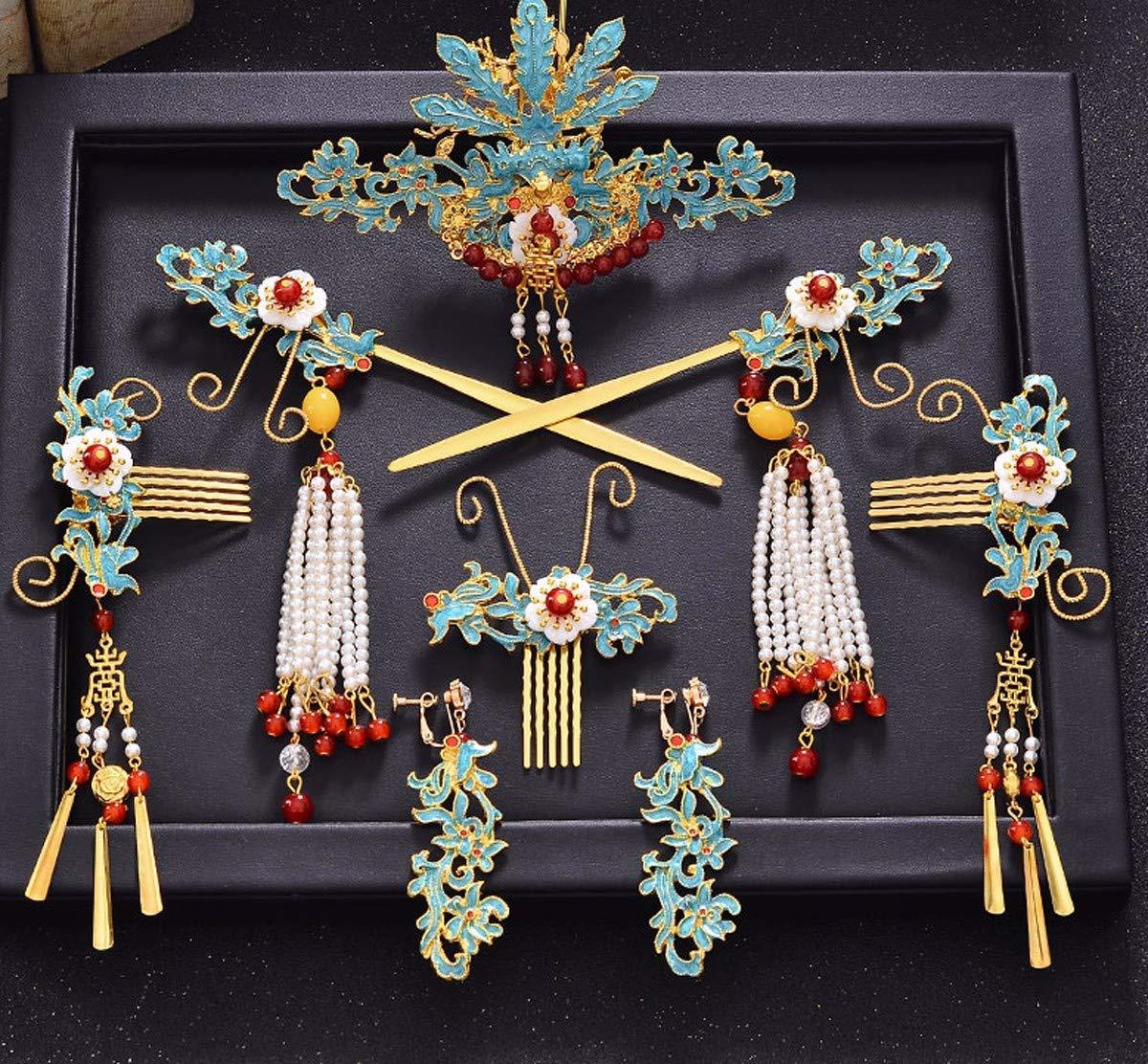 Girls Crown, Beautiful headdress/Wedding Dress Headgear Chinese Ancient Costume Wedding Accessories Wedding Toast Phoenix Crown Ornaments. by Zehaer (Image #2)