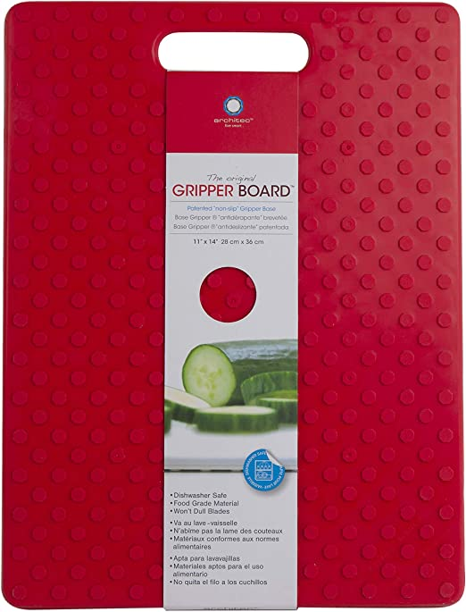 Architec G14-RR Original Non-Slip Gripper Cutting Board, 11