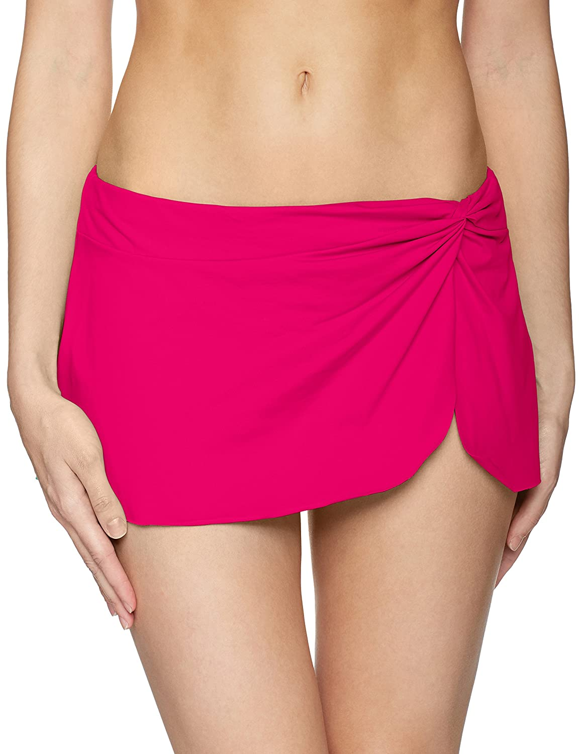 cee9d9cba383a Built in swimsuit bottom underneath skirt. Knot and Slit at Left Hip  Stretch Waistband The Anne Cole Collection was created for ...